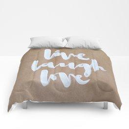 Live Laugh Love - kraft Comforters
