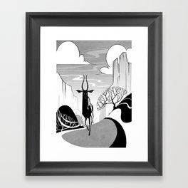 Valleys Framed Art Print