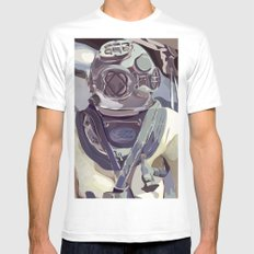 Diver Mens Fitted Tee White MEDIUM