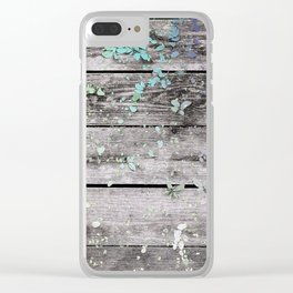 Planks and leaves Clear iPhone Case
