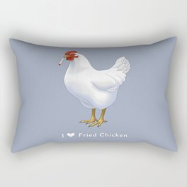 Funny Fried Chicken Pot Smoking White Hen Rectangular Pillow