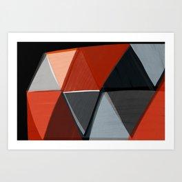 Black and Red Diamonds 2 Art Print
