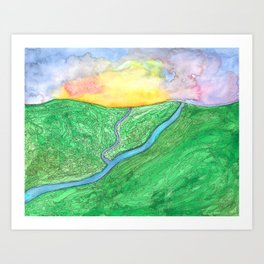 Morning Over the Valley Art Print