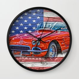 All American Beauty Wall Clock