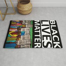 Black Lives Matter - I Am A Man Mural motif Rug