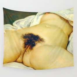 (BIG) Origin of the World : L'Origine du monde by Gustave Courbet Wall Tapestry