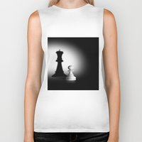 chess Biker Tanks featuring Pion Chess by ArtSchool