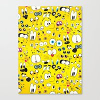 cartoon Canvas Prints featuring Cartoon by Javier Martinez