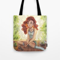 cyarin Tote Bags featuring Greenhouse by Cyarin