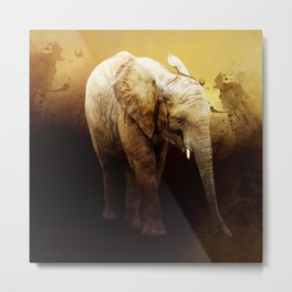 The cute elephant calf Metal Print