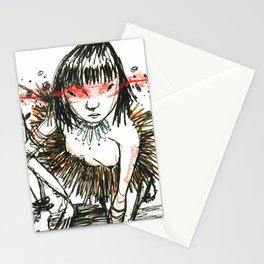 Sangue nos olhos, força no coração Stationery Cards
