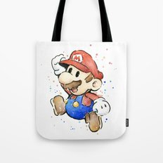 Mario Watercolor Tote Bag