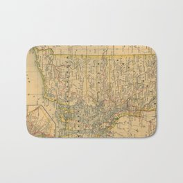Vintage Map of Rhode Island (1875) Bath Mat