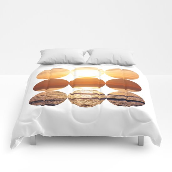 Sunset Circles Comforters