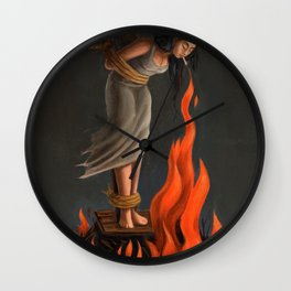 Keep Cool Oil Painting Wall Clock
