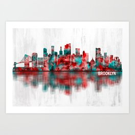 Brooklyn New York Skyline Art Print