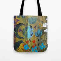 drum Tote Bags featuring Drum Circle by Robin Maria Pedrero