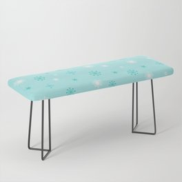 AFE Turquoise Snowflakes Bench
