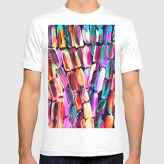 Neon Sugarcane Dark MEDIUM White Mens Fitted Tee