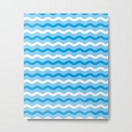 Simple waves Metal Print