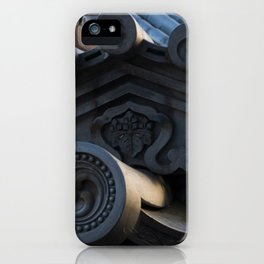 Japanese traditional temple roof iPhone Case