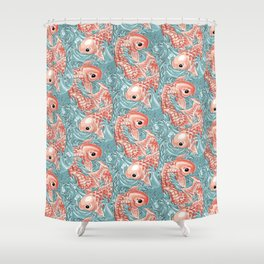 Pets Ink - Siamois Pattern Shower Curtain