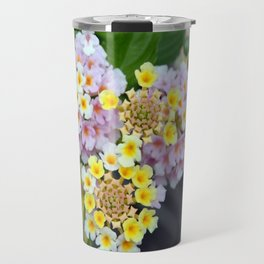 Tropical Plant Lantana Camara or West Indian Lantana Travel Mug