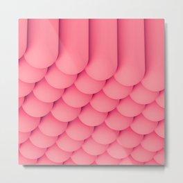 Pink Tubes Metal Print