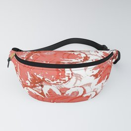 Big Flowers In Shades Of Peach Fanny Pack