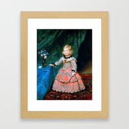"Diego Velázquez ""Infanta Margarita Teresa in a Pink Dress (La infanta Margarita, en traje rosa)"" Framed Art Print"
