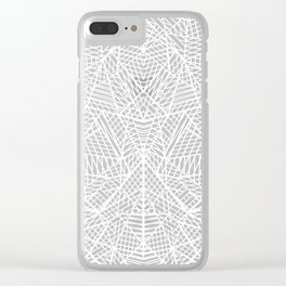 Abstract Lace on Grey Clear iPhone Case