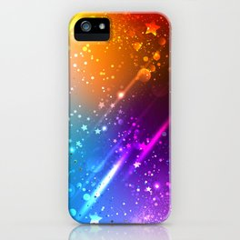 Bright Rainbow Background iPhone Case