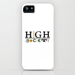 High Society Logo2 iPhone Case