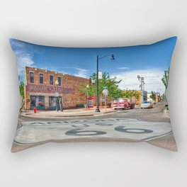 Standin on the Corner Route 66 in USA Rectangular Pillow