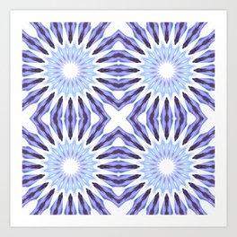 Periwinkle Lavender Pinwheel Flowers Art Print