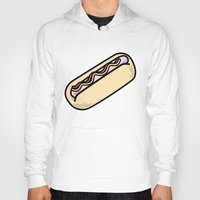 hot dog Hoodies featuring Hot Dog by Tees & Thanks