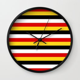 East Timor Papua New Guinea flag stripes Wall Clock