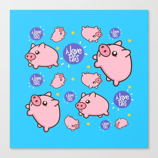 Piggies Canvas Print