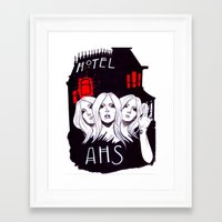 ahs Framed Art Prints featuring AHS by Tante Sui