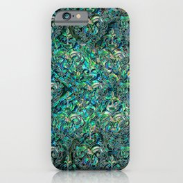 Persian Oriental pattern abalone and silver iPhone Case