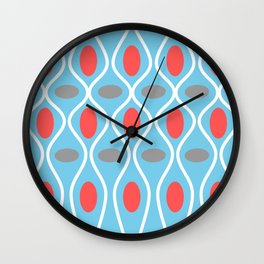 Mid Century Modern Waves and Spheres Wall Clock