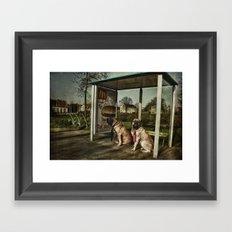 Human behaviour Framed Art Print