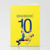 zlatan Stationery Cards featuring Zlatan Ibrahimović Sweden Bicycle Kick Print by graphics17