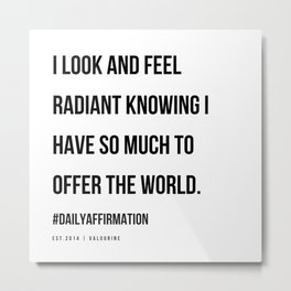 25  | Positive Affirmations For Women | 191031 Metal Print