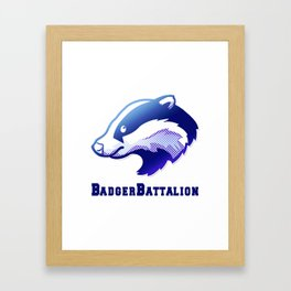 Badger Battalion Framed Art Print