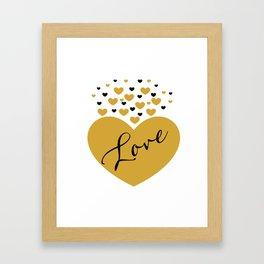 Love is Gold Framed Art Print