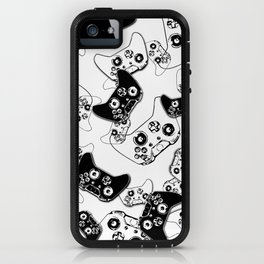 Video Game Black on White iPhone Case