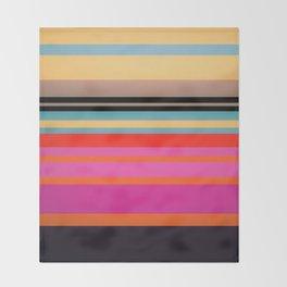 Sunset Stripes Throw Blanket