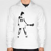 lacrosse Hoodies featuring Lacrosse girl by laxwear