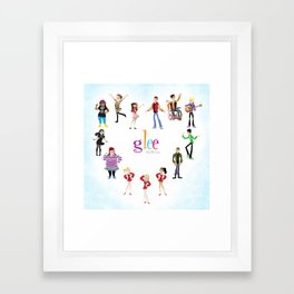 Glee: Season 2 Framed Art Print